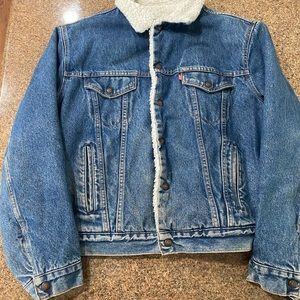 Vintage Levi's Denim Sherpa Lined Jacket